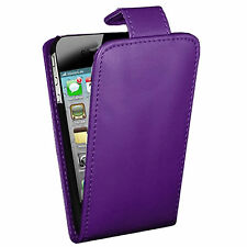 PURPLE PU LEATHER FLIP WALLET CASE COVER FITS APPLE IPHONE 5s
