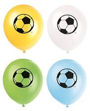 12 Latex Football Balloons Pack of 8