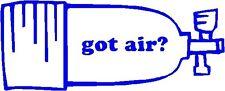"""got air? decal sticker scuba diving tank dive 5"""""""