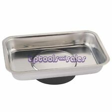 """New Stainless Steel Magnetic Parts Tray 3-3/4"""" x 2-1/2"""" Parts Tools Screws Bolts"""