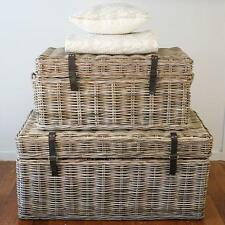 Storage Chest 'Kubu' Large French Provincial Trunk Toy Chest Cane Decor NEW