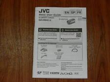 Manual User Guide for Jvc Gz-Hm40 Digital Video Camera Camcorder Lyt2477-001A