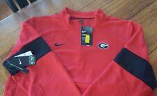 NWT Men's Georgia Bulldogs Nike Red Half-Zip Pullover Jacket Large XL or XXL 2XL