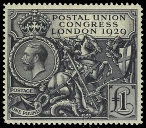 """GREAT BRITAIN 209 - PUC """"St. George and Dragon"""" (pb18485) NH $1500"""
