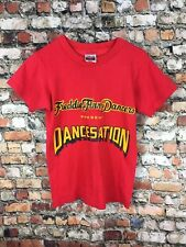 Vintage 80s Hanes 50/50 Red DANCE Youth Kids Tee Shirt Single Stitch Thin Dancer