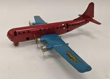 Vtg Wyandotte Pressed Steel Boeing Stratocruiser 4 Engine Airplane Prop Plane