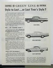 1958 Ford Edsel Compared To Chrysler By Green Line Extra Sales Brochure