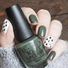 Yunail 24pcs Green Color Trees &Deers Short False Nails Tips Artificial Nail Art