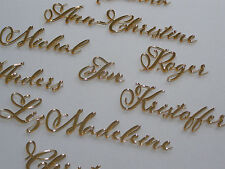 Personalized Wedding Place Cards Acrylic Table Names Calligraphy Wedding Names