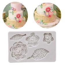 3D Flower Fondant Mold Silicone Sugarcraft Cake Decor DIY Mould Tool 6A