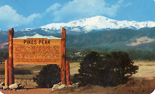 postcard USA  Colorado Pikes Peak near the south entrance to USAF Acadamy