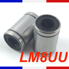 Roulement lineaire LM8UU 8mm Linear Ball Bearing imprimante 3D France Reprap