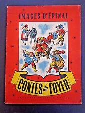 "Imagerie d'Epinal Pellerin ""Contes du Foyer"" folktales/lithos folio INV1474B"