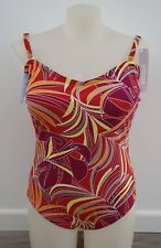 DAMART Botanical Multi Coloured One Piece Swimsuit Plus Size 24