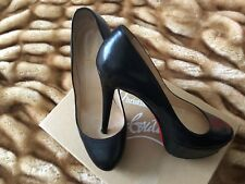 CHRISTIAN LOUBOUTIN BlACK BIANCA 140 PUMPS (size 36.5)