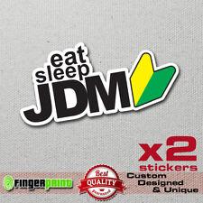 EAT SLEEP JDM sticker decal vinyl japan CAR TRUCK honda nissan toyota wakaba trd