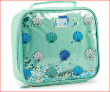 Limited Too Mermaid Lunch Tote Bag box -Shakable Sequins Stars Sea Shells Green