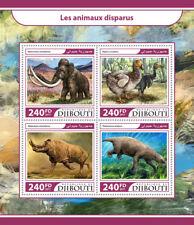 Gibuti 2017 Gomma integra, non linguellato estinte Animali Selvatici MAMMUT DODO 4 V M/S MAMMIFERI birds stamps