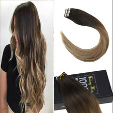 Sunny Seamless Tape in Human Hair Extensions Balayage Brown with Blonde #2/6/24