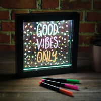 Neon Effect Picture Frame LED Writing Light Up Message Board Living Room Bedroom