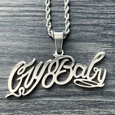 Lil Peep 'Cry Baby' Necklace! Polished Stainless Steel Pendant & Choice of Chain