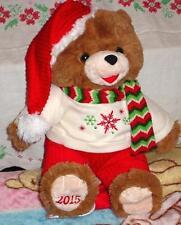 "2015 WalMART CHRISTMAS Snowflake TEDDY BEAR Brown A Boy 20""White/Red Outfit NWT"