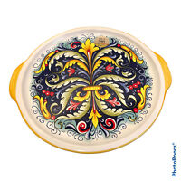 """NEW Nova Deruta Made In Italy 13"""" Serving Platter ceramic pottery dish plate WOW"""