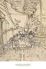 Cafe Terrace at Night, 1888 by Vincent van Gogh Art Print Cityscape Poster 24x36