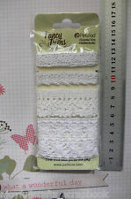 WHITE Mixed CROCHET LACE & TRIM 4 Styles - Each 50cm Long Petaloo 1482-000