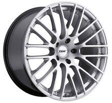 18x8.5 TSW Max 5x112 +43 Hyper Silver Rims Fits VW cc eos golf rabbit