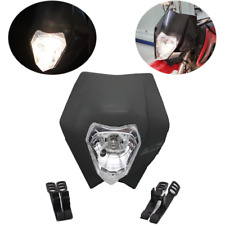 Motorcycle Bike Motocross Universal Headlight BA20D Bulb For KTM SMR Headlam