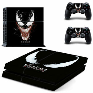 Venom Skin Vinyl Sticker Decal Skin for PS4 Console and 2 Controllers