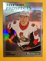 2019-20 UD Parkhurst Prominent Prospects #PP-9 Vitaly Abramov RC Ottawa Senators