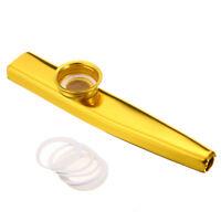 Firm Metal Kazoo Diaphragm Mouth Flute Harmonica Musical Instrumen Kids Gift