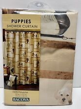 Bacova 'Puppies'  Polyester  Shower Curtain NEW 70x 72 Inch