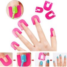26pc Manicure Finger Nail Art Design Tips Cover Polish Shield Protector Tool Set