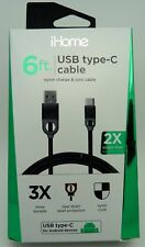 NEW iHome 6ft USB Type Cable IH-CT3000B / Free Shipping