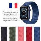Bracelet en Nylon Tressé pour Apple Watch 38/40mm42/44mm Série 7 6 5 4 3 2 1 SE