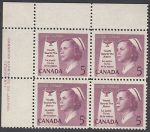 Canada - #380 Nurse Plate Block - MNH
