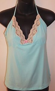 BLUE LEMON SWITZERLAND SOFTEST TOP sz M NEW AUTHENTIC MADE IN ITALY PEPPERMINT