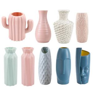 Plastic Flower Vase Creative Nordic Decoration Home Imitation Ceramic Vase