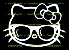 Hello Kitty with Shades - Cars /SUV's Vinyl Die-Cut Peel N' Stick Decal/Sticker