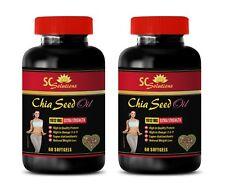 Fat blocker - CHIA SEED OIL 2000 - energy vitamins for women - 2 Bottles