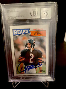 1987 Topps Football Doug Flutie Authentic Autograph CHICAGO BEARS