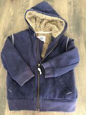 MINI BODEN Fleece Lined Jacket with Hood boys 5-6 years Brown