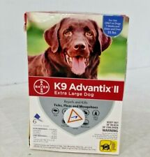 Bayer K9 Advantix Ii Flea and Tick Control Treatment for Extra Large Dogs 6-Dose