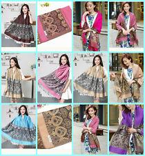 12 wholesale retro boho pashmina scarf shawls bulk Scarf Accessories