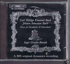 CPE BACH/ JS BACH CD NEW PIECES FOR FORTEPIANO & CLAVICHORD/ INGER GRUDIN BRANDT