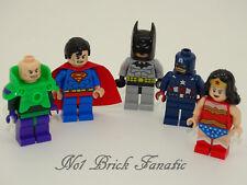 Lego Batman Wonderwoman Superman Lex Luthor C/América Minifiguras Super Hereos