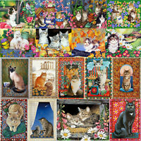 Cat 5D DIY Full Drill Diamond Painting Cross Stitch Hand Embroidery Kit Art Home